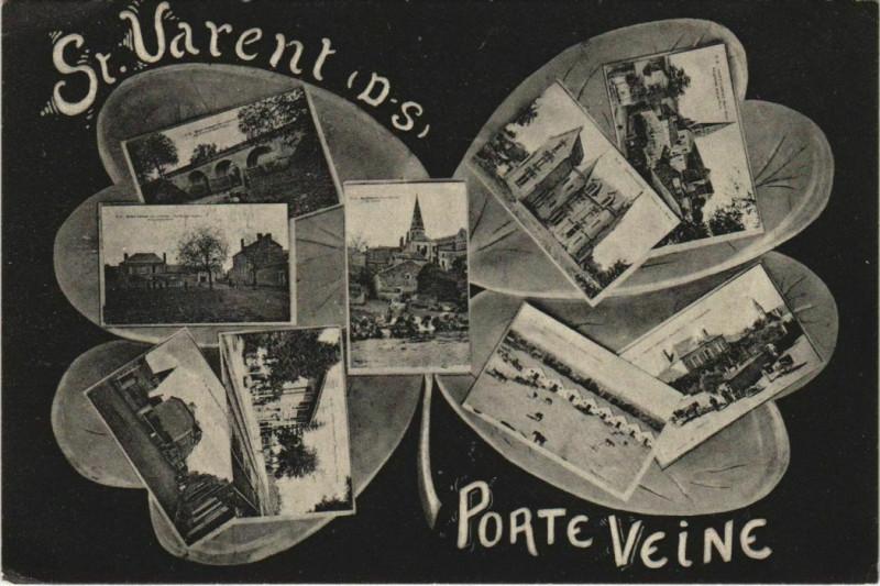 Carte postale ancienne Saint-Varent Porte Veine - Scenes à Saint-Varent