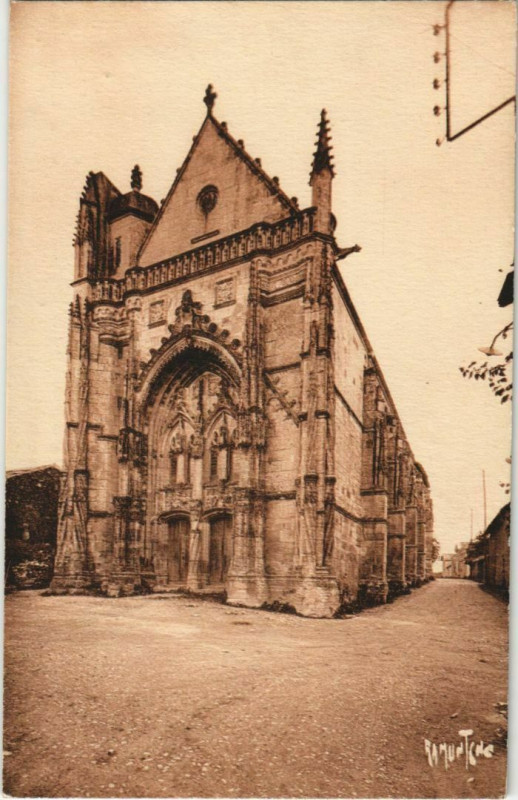Carte postale ancienne Saint-Marc-la-Lande Eglise à Saint-Marc-la-Lande
