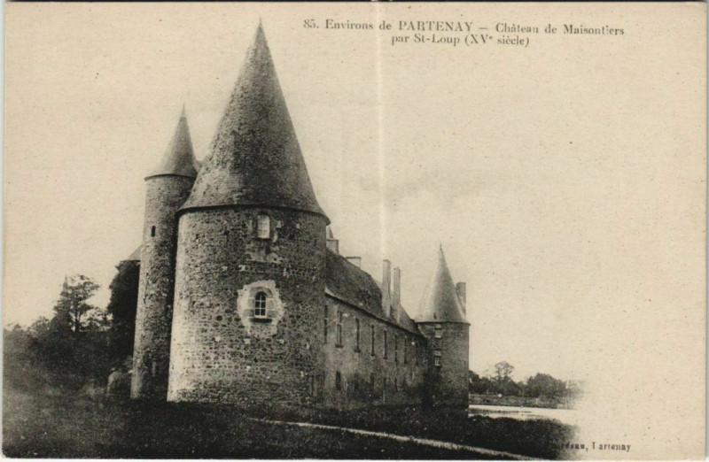 Carte postale ancienne Chateau de Maisontiers par Saint-Loup - Env. de Parthenay à Maisontiers