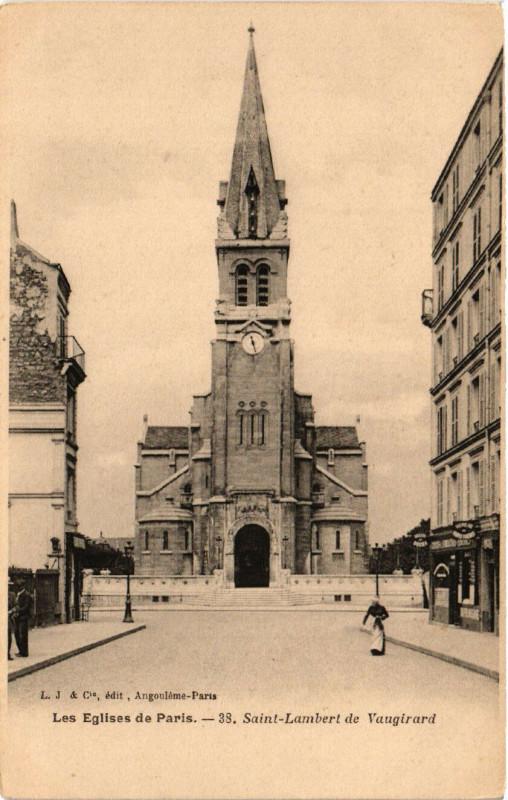 Carte postale ancienne Les Eglises de Paris - Saint-Lambert de Vaugirard à Paris 15e