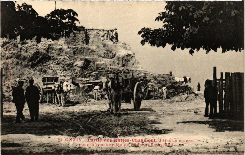 Carte postale ancienne Partie des Buttes-Chaumont à Paris 19e