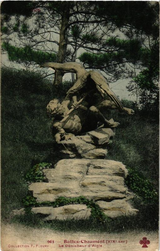 Carte postale ancienne Buttes-Chaumont - Le Dénicheur d'Aigle à Paris 19e