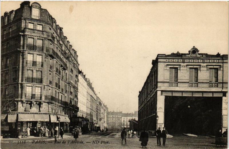 Carte postale ancienne Rue de l'Arrivée à Paris 15e
