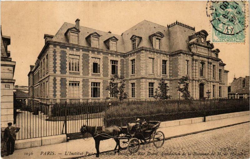 Carte postale ancienne L'Institut Pasteur (Chimie, Biologie), Rue Dutot à Paris 15e