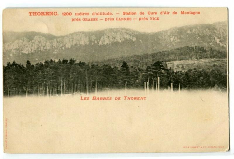 Carte postale ancienne 06 Alpes-maritimes thorenc bars thorenc advertising card à