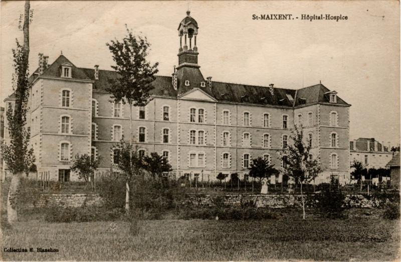Carte postale ancienne Hôpital-Hospice à Saint-Maixent-l'École