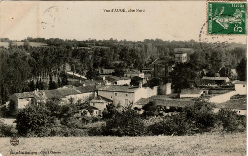 Carte postale ancienne Vue d'AUGÉ, côté Nord à Augé