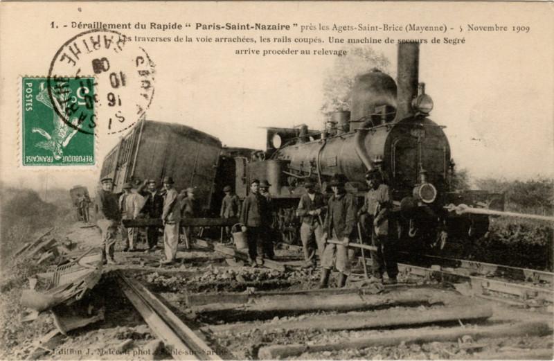 Carte postale ancienne Déraillement du Rapide