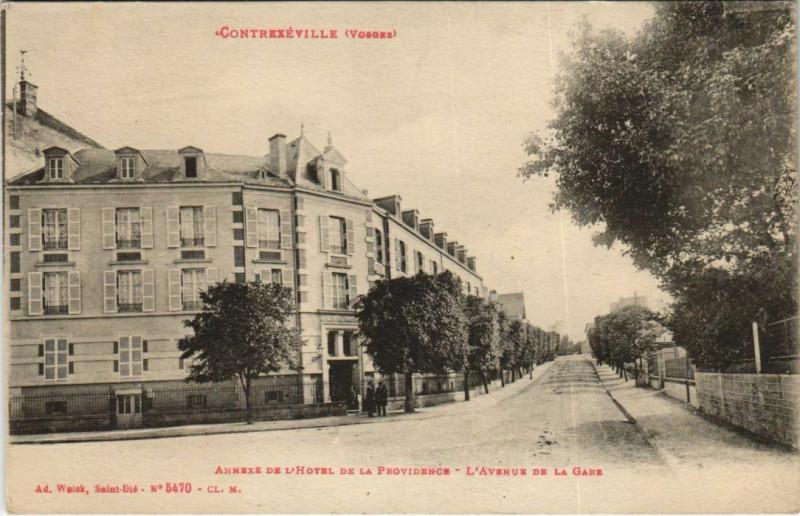 Carte postale ancienne Contrexeville - Annexe de l'Hotel de la à Contrexéville