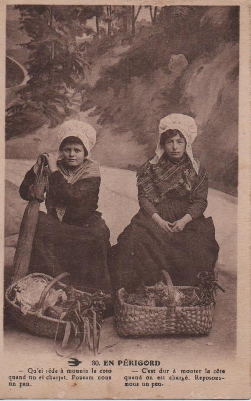 Carte postale ancienne En Périgord à Champagnac-de-Belair