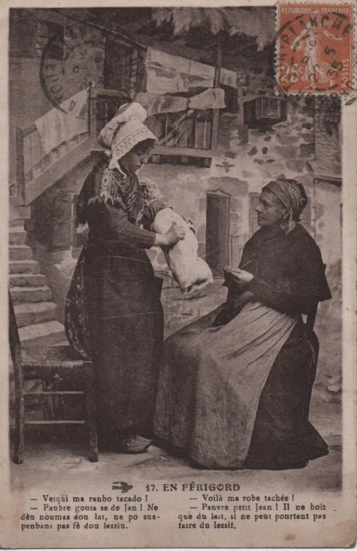 Carte postale ancienne En Périgord à La Tour-Blanche-Cercles