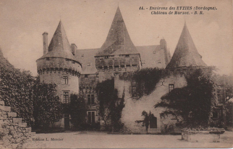 Carte postale ancienne Les EYZIES (environs) Château de Marzac à Les Eyzies