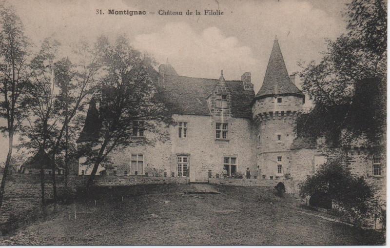 Carte postale ancienne Montignac - Château de la Filolie à Coly-Saint-Amand