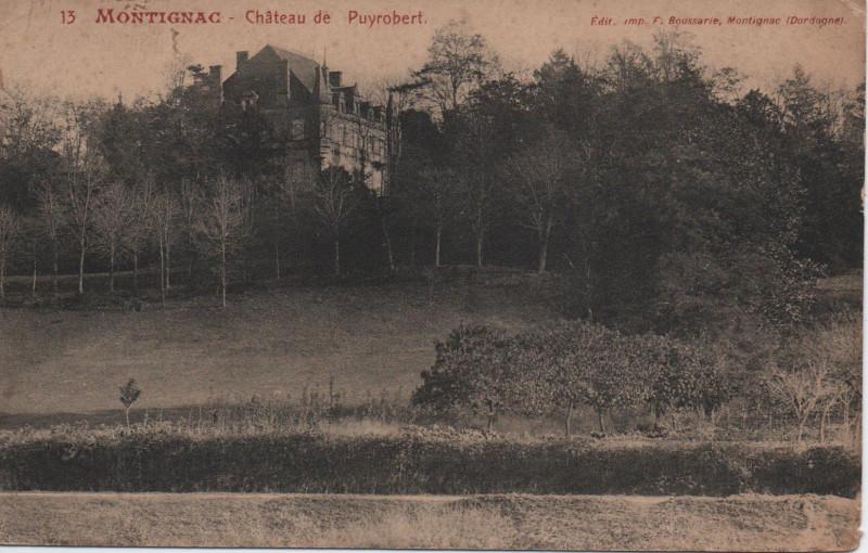 Carte postale ancienne Montignac - Château de Puyrobert à Montignac