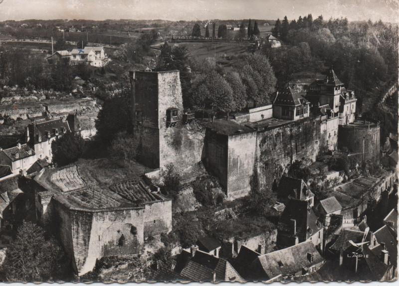 Carte postale ancienne Montignac - sur - Vézère, château des comtes du Périgord à Montignac