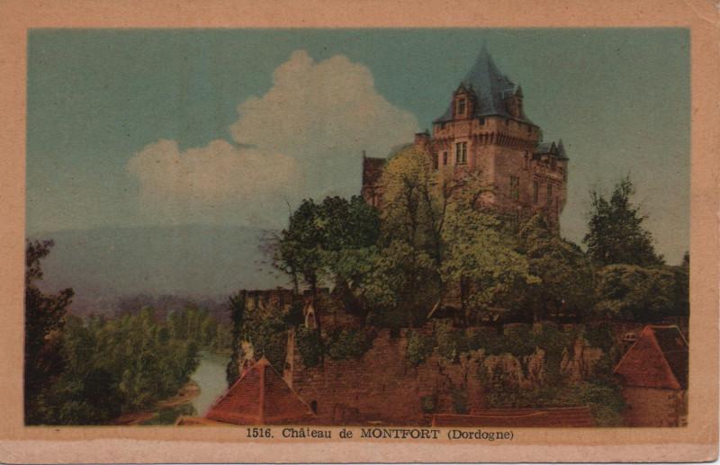 Carte postale ancienne Château de Montfort à Vitrac
