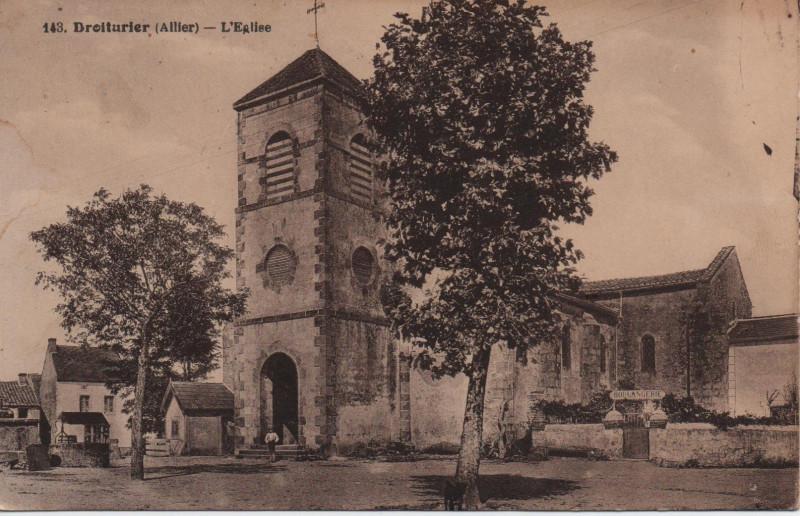 Carte postale ancienne L'Eglise à Droiturier